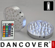 CosyLightStyle LED lys 30 LED bomuldskugler, Sort mix