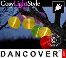 CosyLightStyle LED lys 30 LED bomuldskugler, Rød