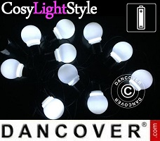 CosyLightStyle LED lys 30 LED bomuldskugler, Pink mix