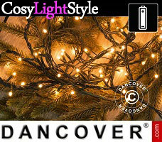 CosyLightStyle LED lys m/ 80 LED, multifunktion, 6m, varm hvid